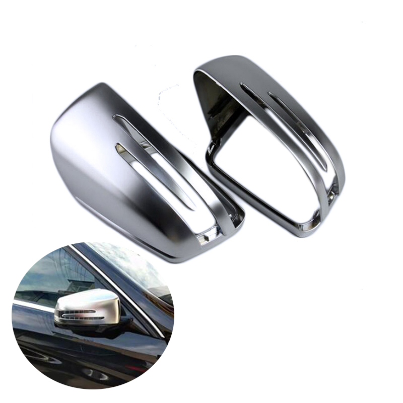 1 Pair ABS Matt Car Rearview Mirror Rear Side Cover For Benz W176 W246 W204 W212 W221 CLA C117 GLA X156 GLK X204 CLS W218 new mens genuine leather watch strap bands bracelets black alligator leather 18mm 19mm 20mm 21mm 22mm 24mm without buckle
