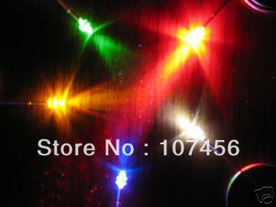 500pcs 1.8mm red/yellow/blue/green/white Ultra Bright water clear R/Y/B/G/W LED light Lamps