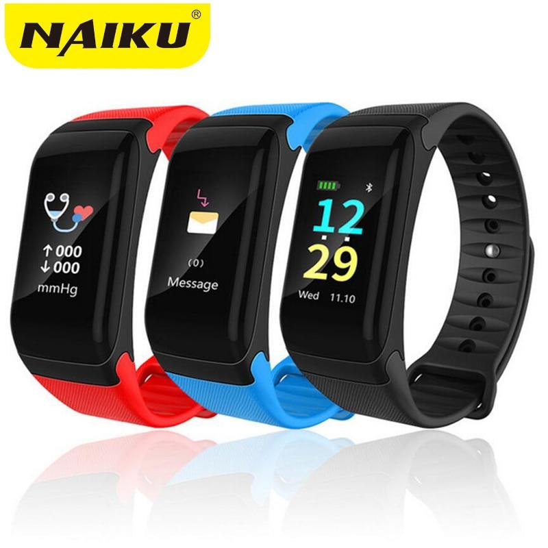 NAIKU Waterproof Fitness Bracelet Bluetooth Color Lcd Screen Sport Wrist Band Smart watches Heart Rate Tracker Pk Mi Band 2