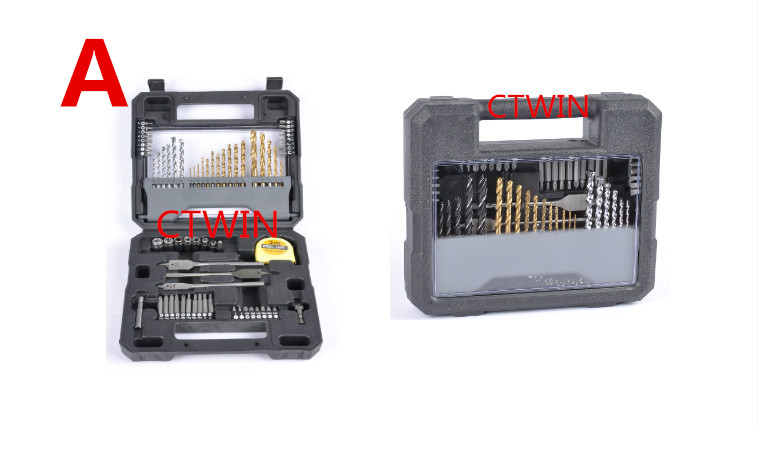 Impact Drill Head 70 Piece Electric Drill Bit Parts Wood Construction Twist Drill Woodworking Useful Transparency Tool Set