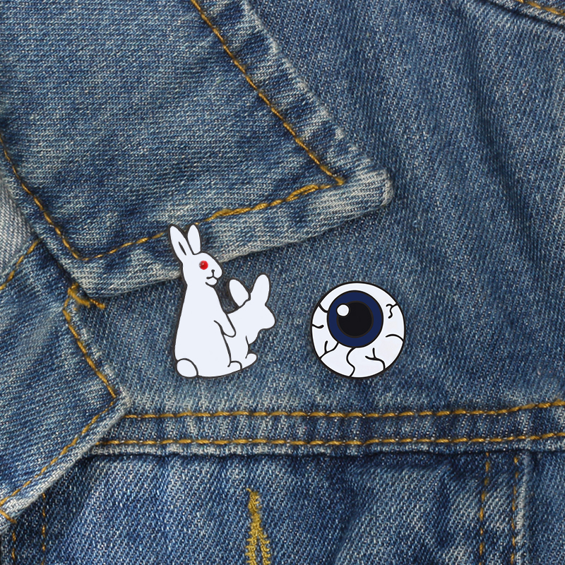 Badges Steady 1 Pcs Cartoon Cute Animal Cat Rabbit Metal Brooch Button Pins Denim Jacket Pin Jewelry Decoration Badge For Clothes Lapel Pins Arts,crafts & Sewing