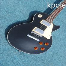 ФОТО  high quality electric guitar factories sell wchina guitar lp custom kpole black  electric guitar lp guitaar free shipping