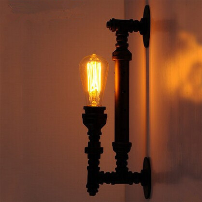 Creative Water Pipe Loft Style Wall Light Edison Vintage Industrial Wall Lamp For Aisle Balcony Restaurant Bedroom AC 90V~260V
