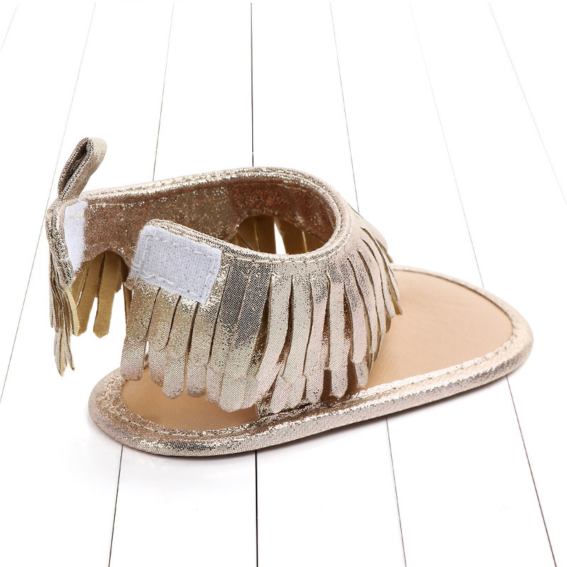 Baby comfortable sandals 2018 summer new boy girls beach shoes kids casual sandals children fashion Baby Girl Tassel Sandals (4)
