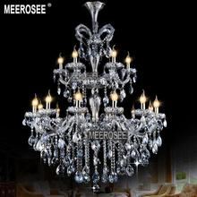 Wholesale Price Light Blue Maria Theresa Large Crystal Chandelier Lighting Fitting lustres pendentes 18 Lamps