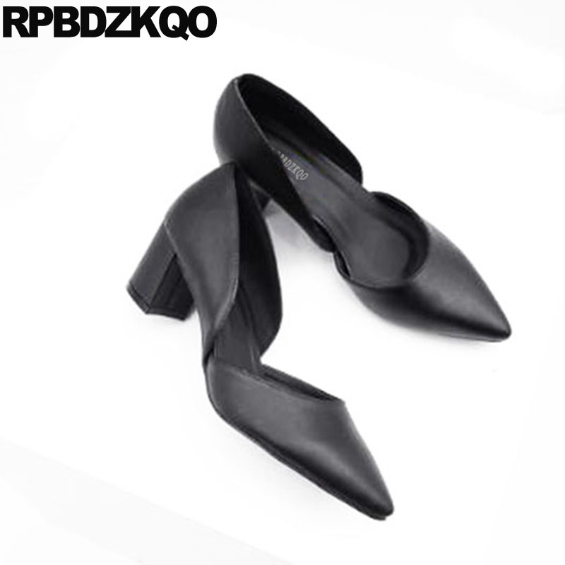 Black 10 42 Medium Heels Big Size Pointed Toe Shoes Office High Colourful 2018 4 34 D'orsay Chunky 33 Ladies Walking Pumps pumps size 33 brand black 4 34 platform shoes women 3 inch 11 43 ladies 2018 10 42 chunky high heels pointed toe plus customized