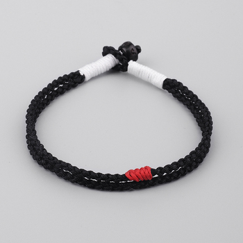 Lucky Rope Bracelet for women Tibetan Buddhist Handmade Knots Coconut shell Bracelets&Bangles Men One Heart To The Buddha buddhist rope bracelet
