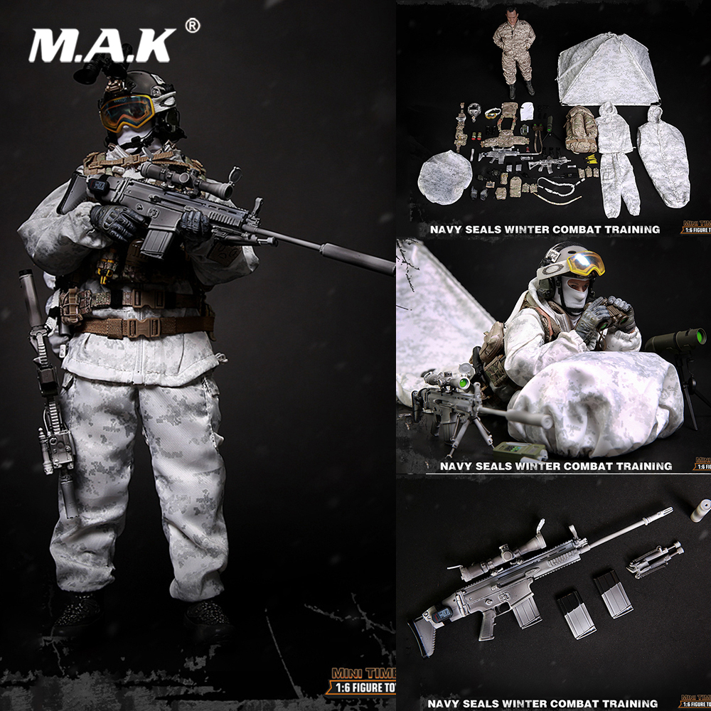 For Collection 1/6 Scale Full Set Figure M011 Navy Seals Winter Combat Training Male Figure Model Toys for Fans Holiday Gift for collection 1 6 full set series of empires japan s date masamune deluxe figure model se009 warring states model for fans gift