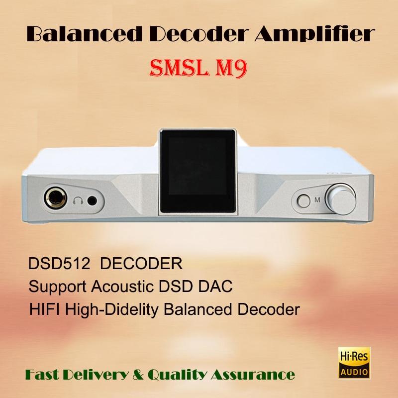 SMSL M9 hi fi amplifier audio AK4490 uab dac amp home balanced decoder headphone amplifier portable power amplifiers sound amp oem stianless uab