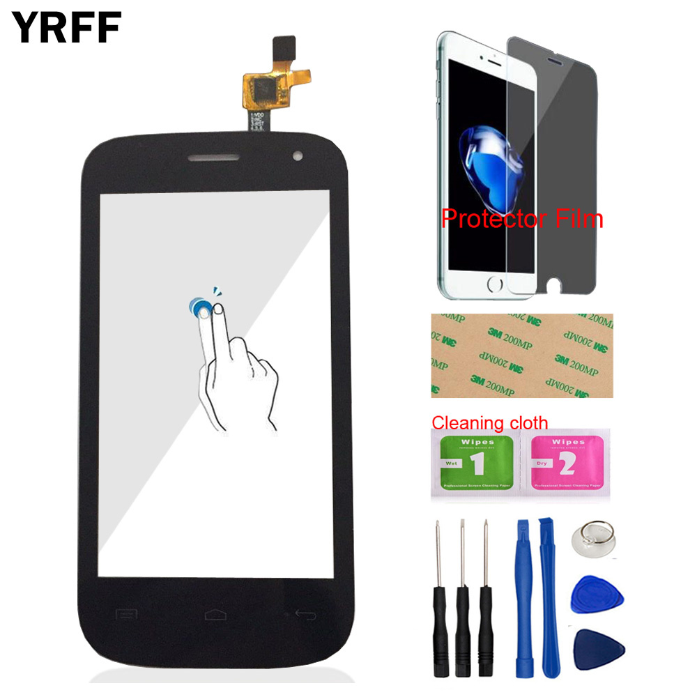 Front Glass Touch Screen For Fly IQ445 IQ 445 Touch Digitizer Panel Glass Sensor 4.0'' Phone Tools Protector Film Adhesive