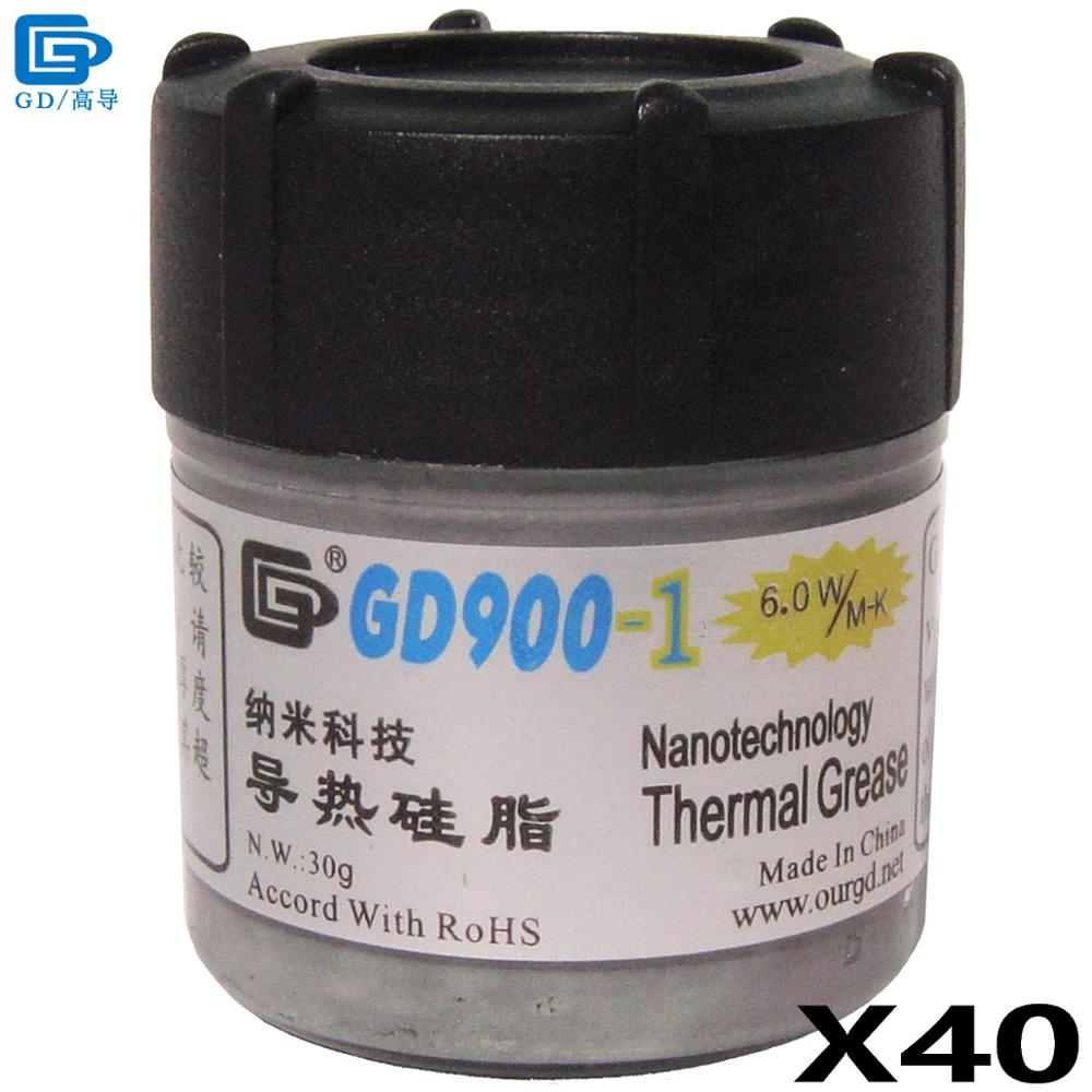 GD900-1 Thermal Conductive Grease Paste Silicone Plaster Heat Sink Compound 40 Pieces Net Weight 30 Grams Containing Silver CN30