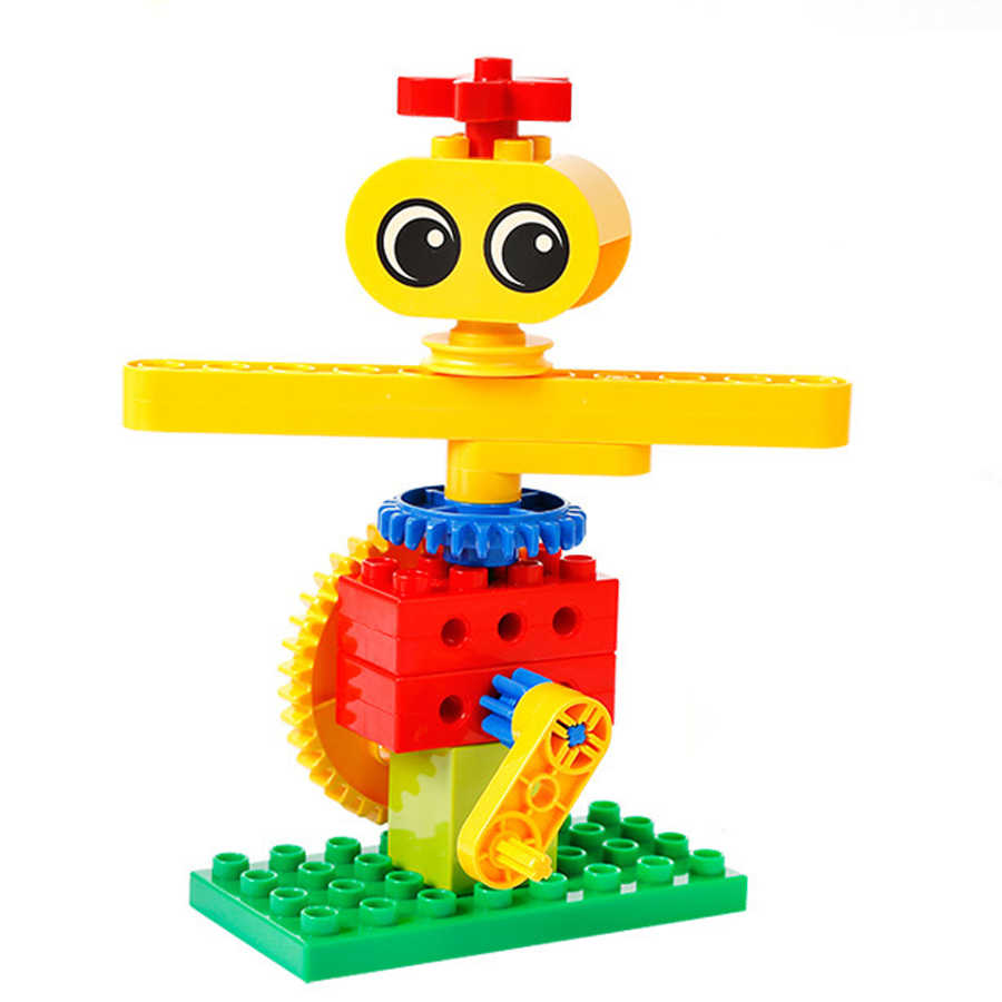 Scarecrow Zahnräder Modell Bausteine Ziegel Spielzeug Kits Baby DIY Große Blöcke Geistigen Spielzeug Für Kinder Geburtstag Geschenke Kinder