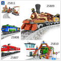Kits de edificio modelo compatible con lego ausini tren succession2 3d modelo de construcción bloques educativos juguetes y pasatiempos para niños