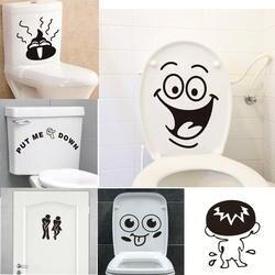 Забавная улыбка ванная комната стены стикеры s Туалет украшения дома водостойкие настенные наклейки для туалета стикеры декоративный