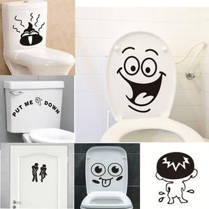 Funny Smile Bathroom Wall Stic