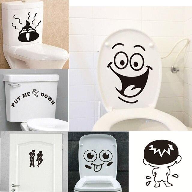 Sorriso divertente bagno adesivi murali wc decorazione for Adesivi murali per bagno