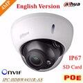 Dahua Английский 4MP IPC-HDBW4431R-AS заменить IPC-HDBW4421R-AS IP сетевая камера POE и хранения SD Звуковая сигнализация DH-IPC-HDBW4431R-AS
