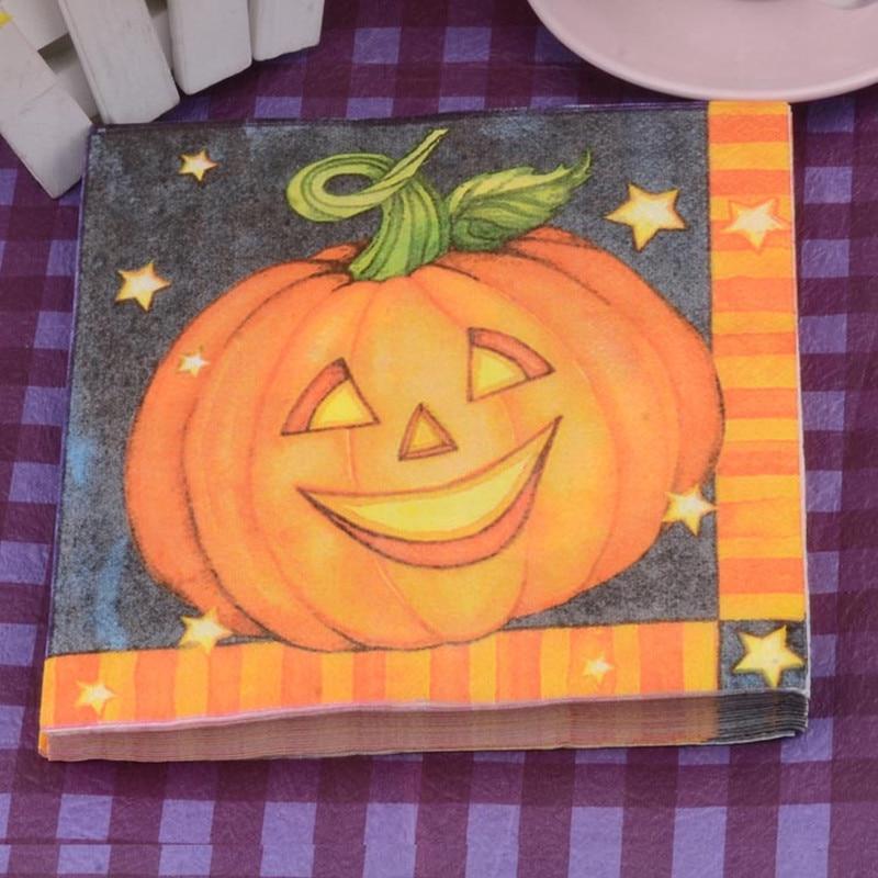 Easter Halloween Pumpkin Skeleton Paper Napkin Festive Party Cafe Tissue Napkins Decoupage Decoration Paper 33cm*33cm 20pcs/pack