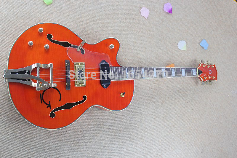 Free shipping Guitars Left Handed gretsch JAZZ 6120 Bigsby