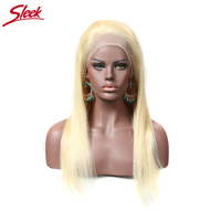 Sleek Brazilian Silky Straight Hair 613 Blonde Full Lace Wigs 150 Density Remy Human Hair Wigs