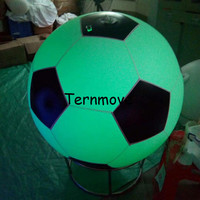 LED Inflatable Soccer Throwing Balloon Light Touching Color Changing LED Glowing Football PVC Funny Sport Toy sky balloons