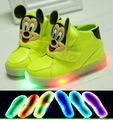 2017 European Cool LED colorful boys girls boots hot sales lighted baby sneakers casual Elegant cartoon style baby shoes
