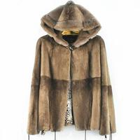 2018women's new natural real rabbit fur coat wearing a hat, mink fur accessories coat, warm fashion, suitable for autumn and wi