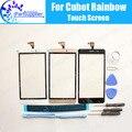 Cubot Rainbow Painel de Digitador de Vidro Toque Substituição Digitador Da Tela de Toque 100% Original Para Cubot Rainbow + ferramentas + Adesivo