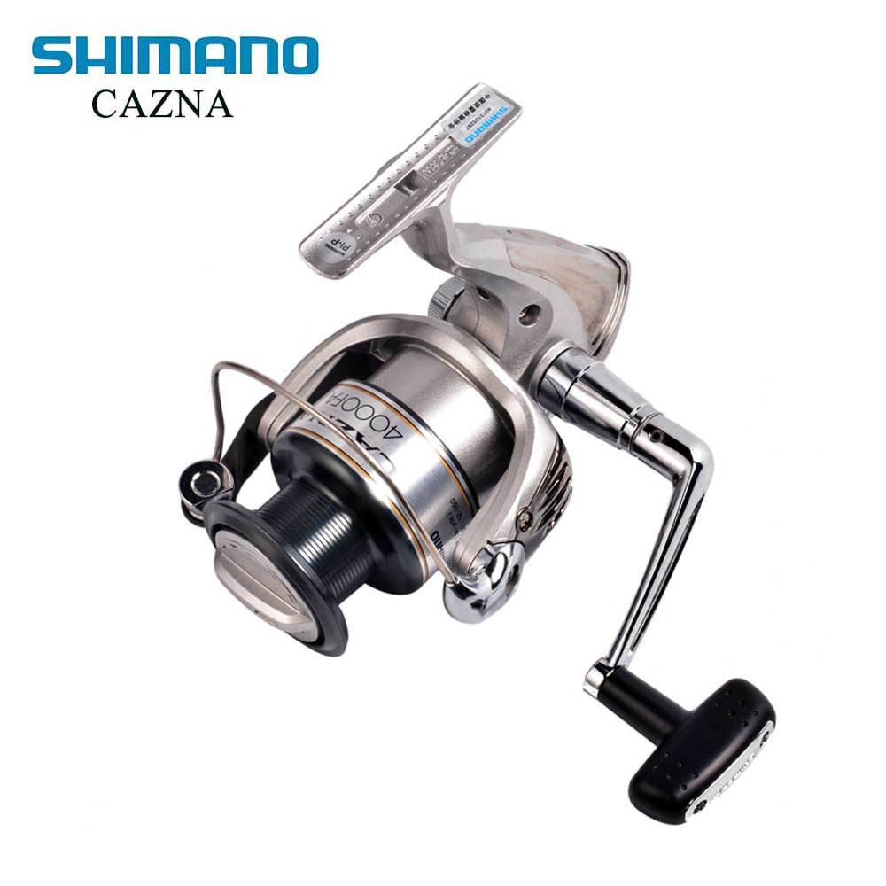 SHIMANO CAZNA 2500FA/4000FA Spinning Fishing Reel 3+1BB with AR-C Spool Rigid Body Spinning Fishing Reel 100% original shimano alivio spinning fishing reel 1 1bb with original nylon fishing line ar c spool rigid body fishing reels