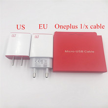 Original OnePlus One 1 X Charger 5V/2A One Plus Mobile phone Usb Wall Travel Adapter with Micro USB Data Sync Cable