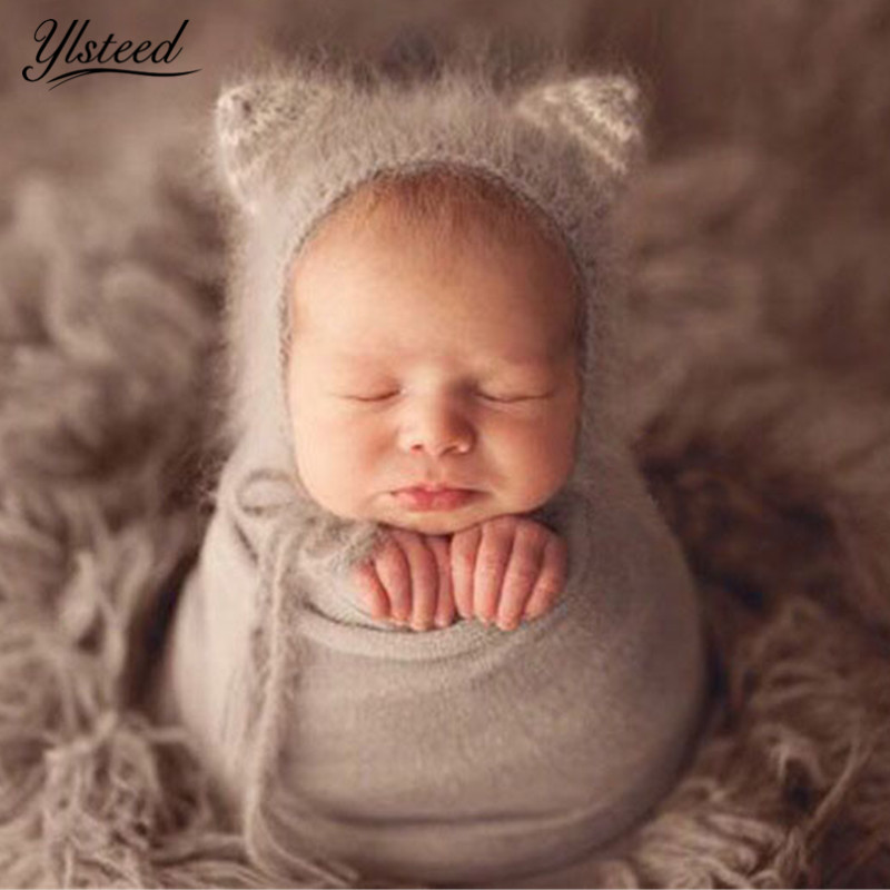 Ylsteed Crochet Newborn Mohair Hat Baby Photography Props