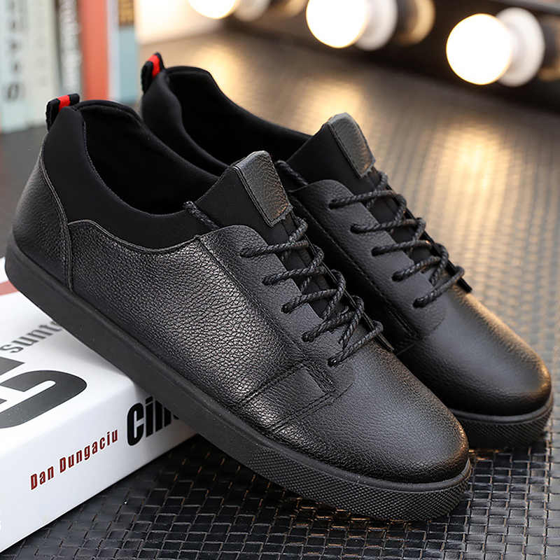 d2a9f9e55914 Men sneakers shallow solid men vulcanize shoes increase confortable light men  shoes luxury brand 2019 spring