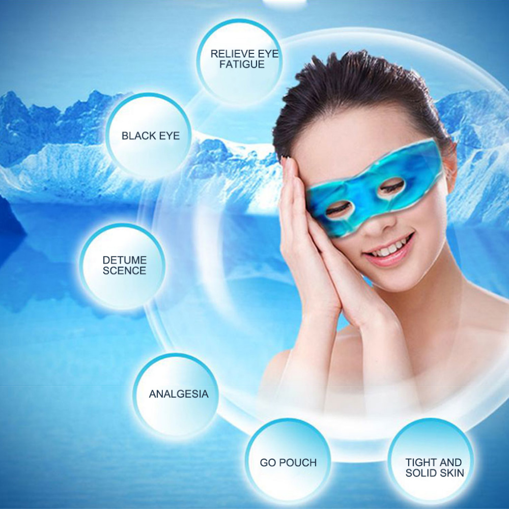 Ice Eye Gel Beauty Sleeping Eye Mask Reduce Dark Circles Relieve Fatigue Lessen Eyestrain 1 Piece Cooling eye gel Patches mask recette merveilleuse ultra eye contour gel by stendhal for women 0 5 oz gel