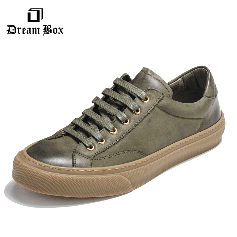 Dreambox In the autumn and winter of 2017, simple men's wear of men's retro casual fashion men's shoes with small dirty shoes коровин в конец проекта украина