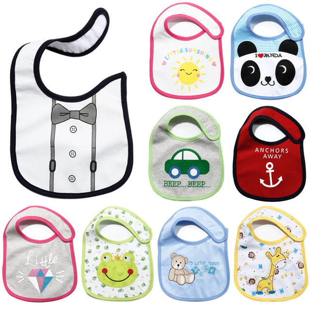 New Carter's Baby Bibs Cartoon Cute Boys Girls Burp Cloths Cotton Waterproof Saliva Towel Newborn Wear Accessories