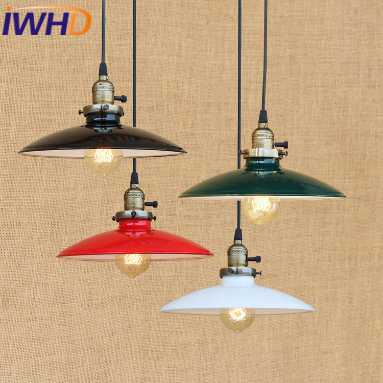 IWHD Vintage Lamp Loft Industral Lighting Hanging Lamp American Style Bedroom Restaurant Retro Lamparas E27 220v For DecorIWHD Vintage Lamp Loft Industral Lighting Hanging Lamp American Style Bedroom Restaurant Retro Lamparas E27 220v For Decor