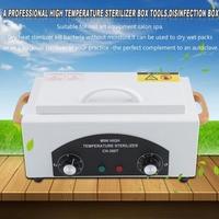 Beauty Cleaner High Temperature Sterilizer Box Nail Art Salon Portable Sterilizing Manicure Nail Beauty Tool EU Plug