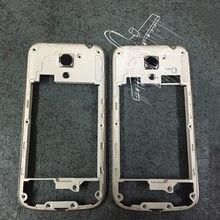 a287d54af15 Para Samsung Galaxy S4 mini i9190 i9192 i9195 nuevo medio chasis placa  bisel mediados vivienda Marcos bisel vivienda reparación .