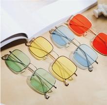 62fdfb4a7f KDDOU metal frame transparent jelly color ladies men marine beach glasses  retro UV400