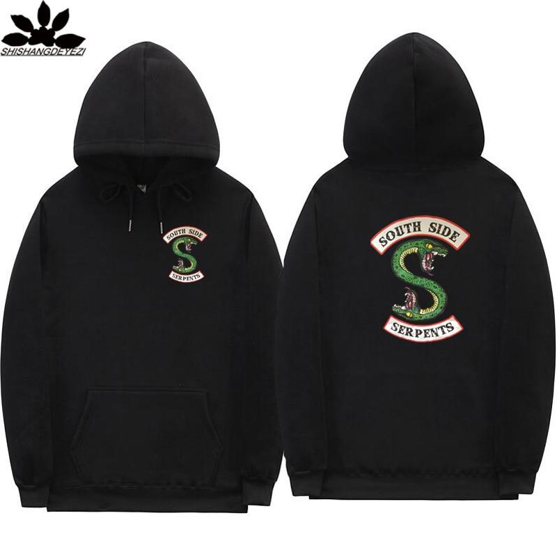 Neue South Side Serpents Hoodie Sweatshirt Hip hop Streetwear Herbst Frühling Hoodies Männer mode Riverdale hoodie