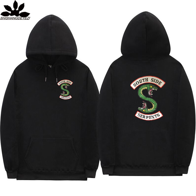 New South Side Serpents Hoodie Sweatshirt Hip Hop Streetwear Autumn Spring Hoodies Men Fashion Riverdale Hoodie