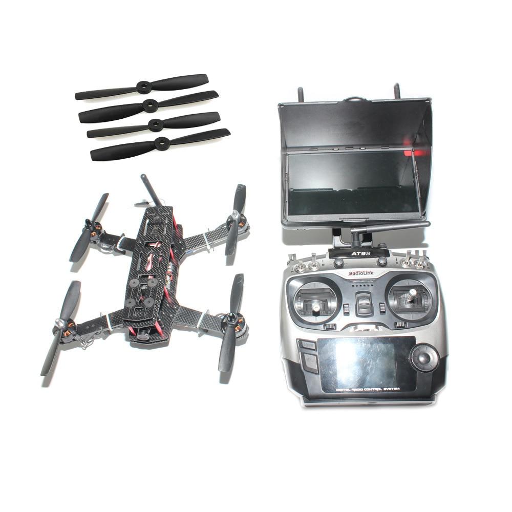 JMT Rc 250 FPV Quadcopter Carbon Fiber RTF Drone with SP Racing F3 Flight Controller CCD Camera Radiolink AT9S TX&RX