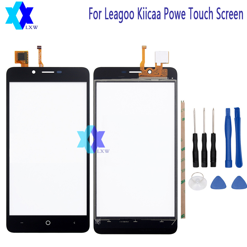 For Leagoo Kiicaa Powe Touch Screen Glass Original Guarantee Original New Glass Panel Touch Screen 5.0 inch Tools+Adhesive Stock