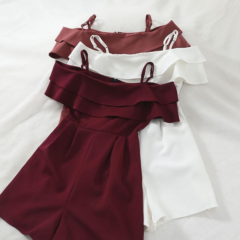 Summer Jumpsuits Women Clothes 2020 Rompers Womens Jumpsuit Overalls for Women Korean Elegant Short Playsuite ZT2072