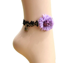 2017 New Handmade Girl Flower Jewelry Lace Ankle Foot Jewelry Vintage Beautiful Accessories Newest Style Foot Jewelry