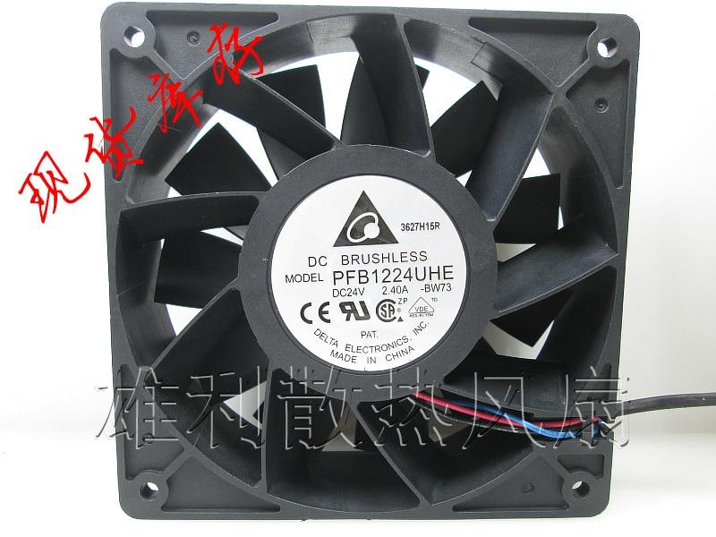 Free Delivery.PFB1224UHE 12CM 12038 24V 2.40A 3 lines of violence inverter cooling fan delta 12038 car booster fan violence server pfr1212dhe 12v 5 2a 12cm fan