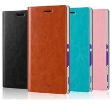 Оригинал Mofi роскошный кожаный бумажник чехол для Sony Xperia M2 S50h, мобильный телефон сумка Обложка дизайн стенда случаи