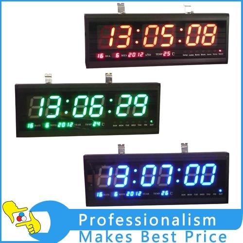 Здесь продается  3-color Digital Large Big Digits LED Wall Desk Clock with Calendar Temperature  Инструменты