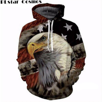 Eagle 3D Print Hoodies Sweatshirts Men Fashion American Flag Hooded Sweats Tops Hip Hop Unisex Graphic