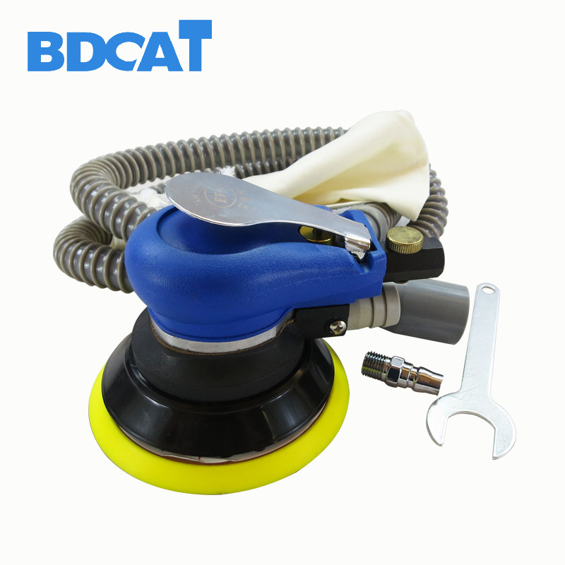 BDCAT 5 Inches air Sander with Vacuum 125mm Pneumatic Sander 5 Air Sanding Machine Pneumatic Tools vacuum type 125mm pneumatic sanding with 5 inch disc type pneumatic polishing machine sand machine bd0128